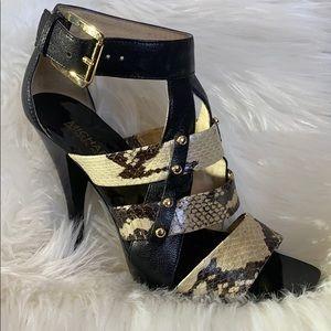 Michael Kors genuine snakeskin leather heels. EUC